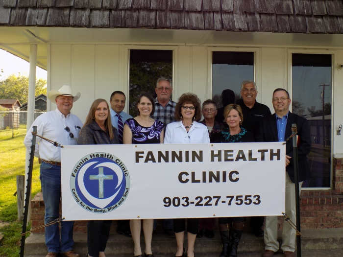 Fannin Health Clinic Board members at our open house on 4-7-2016.